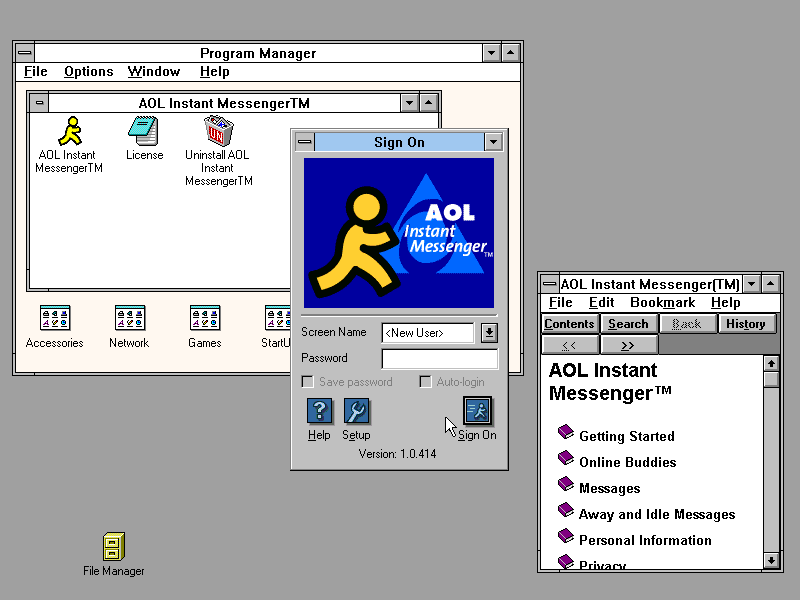 winworld aol instant messenger 1 0 winworld aol instant messenger 1 0