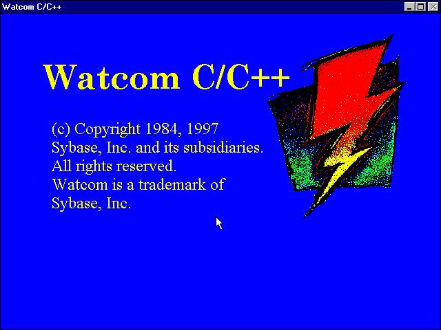 WATCOM C/C++ Version 11.0에 대한 이미지 검색결과