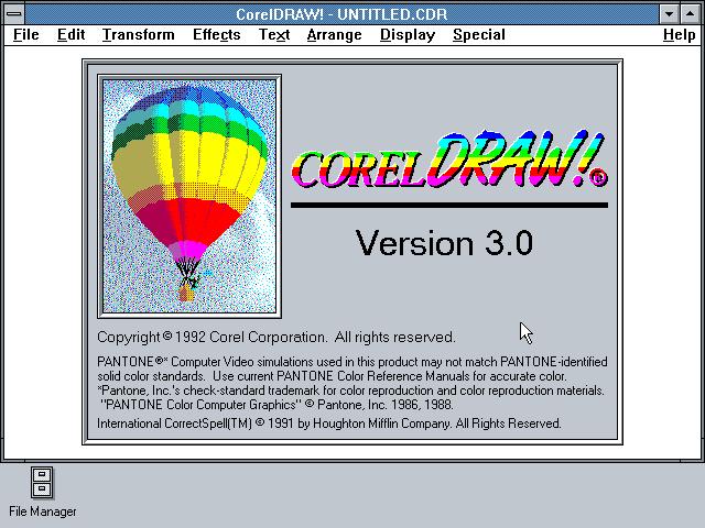 WinWorld: CorelDraw! 3 0