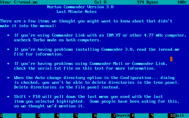 Norton Commander 3 - Viewer
