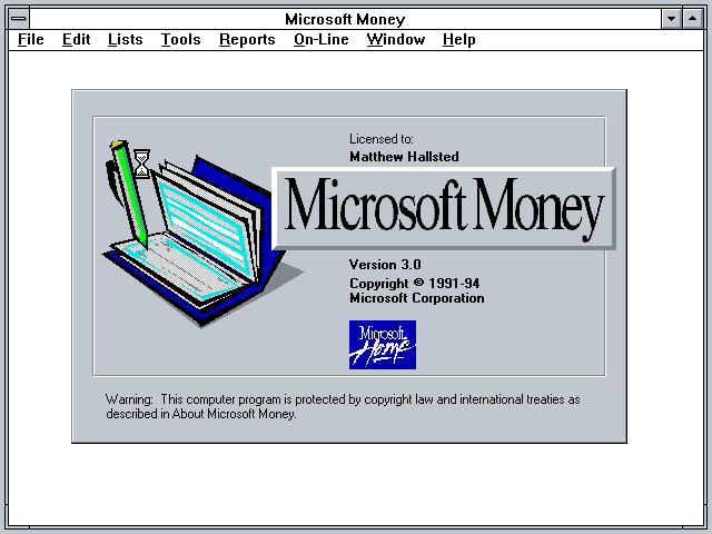 winworld microsoft money 3 x
