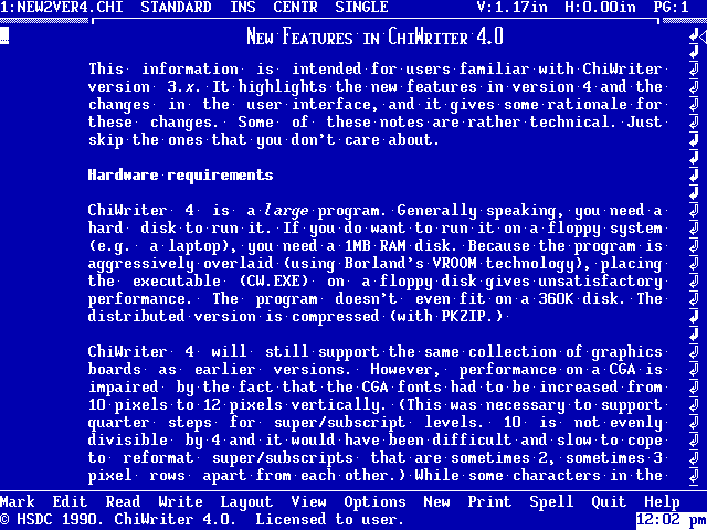 ChiWriter 4 - About