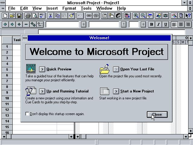 Winworld Microsoft Project 4 0