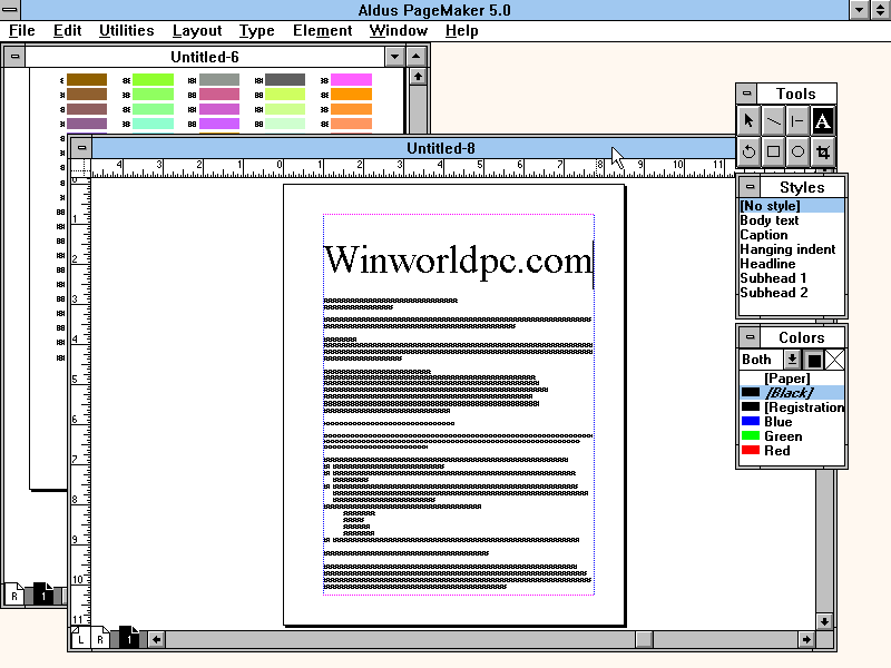 pagemaker computer program