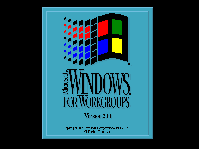 Microsoft Windows 3.11 FWG - Splash