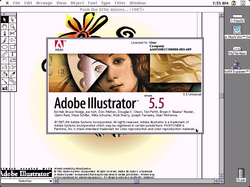 WinWorld: Adobe Illustrator 5 5