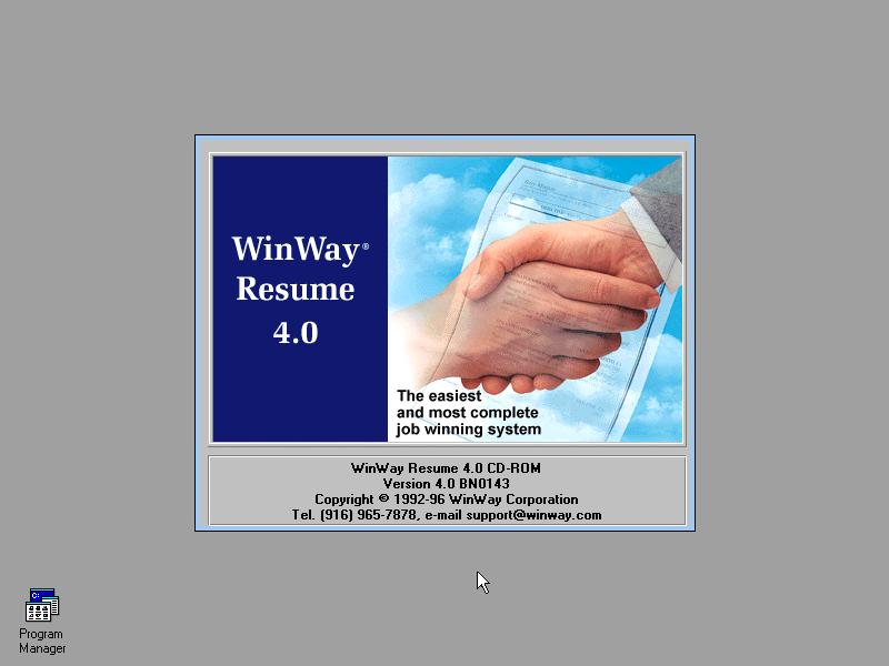 Winworld Winway Resume 4 0