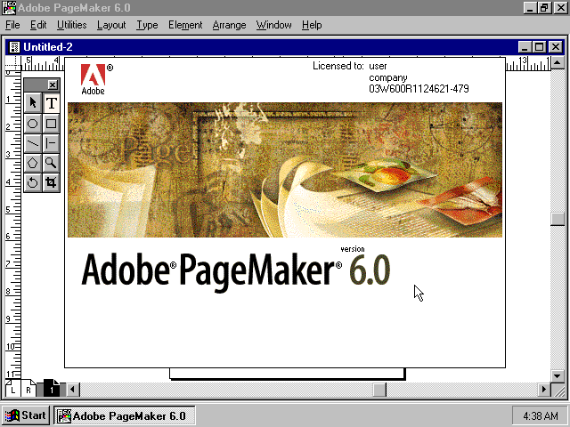 Adobe pagemaker 6.5 software