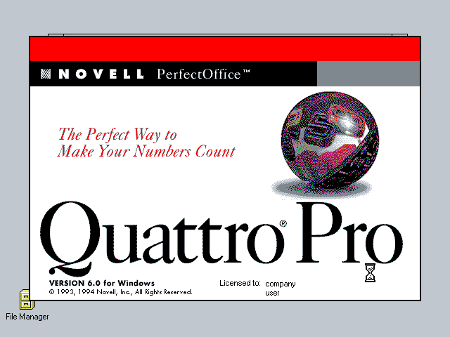 Quattro Pro 6.0 for Windows - Splash