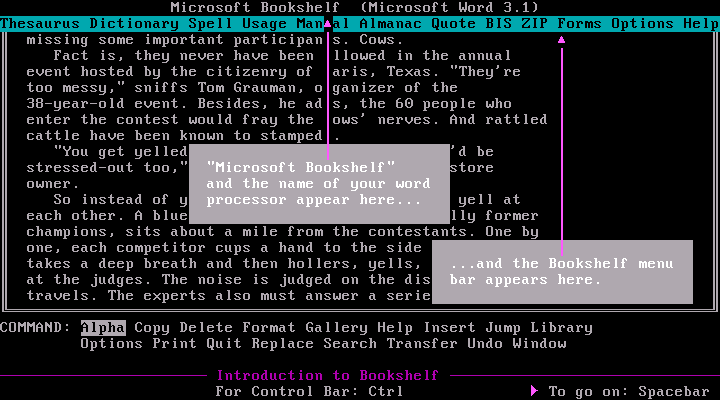 Microsoft Bookshelf 1987 - Edit