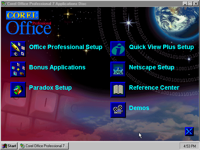 Corel Office Professional 7 - Install