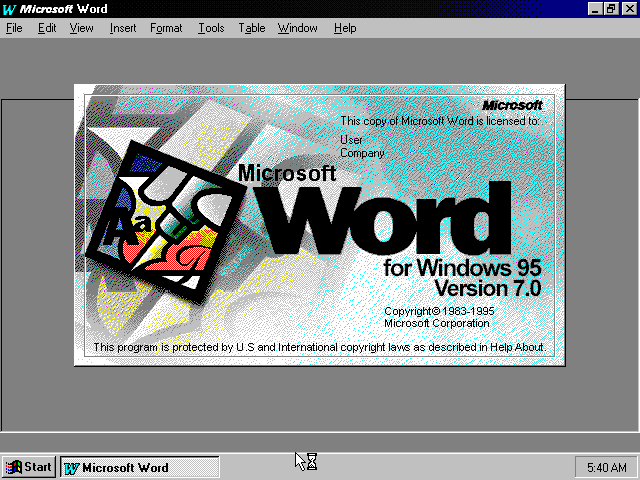 Windows 95 Mockup