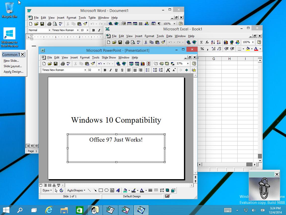 WinWorld: Office 97 on Windows 10 (build 9888)