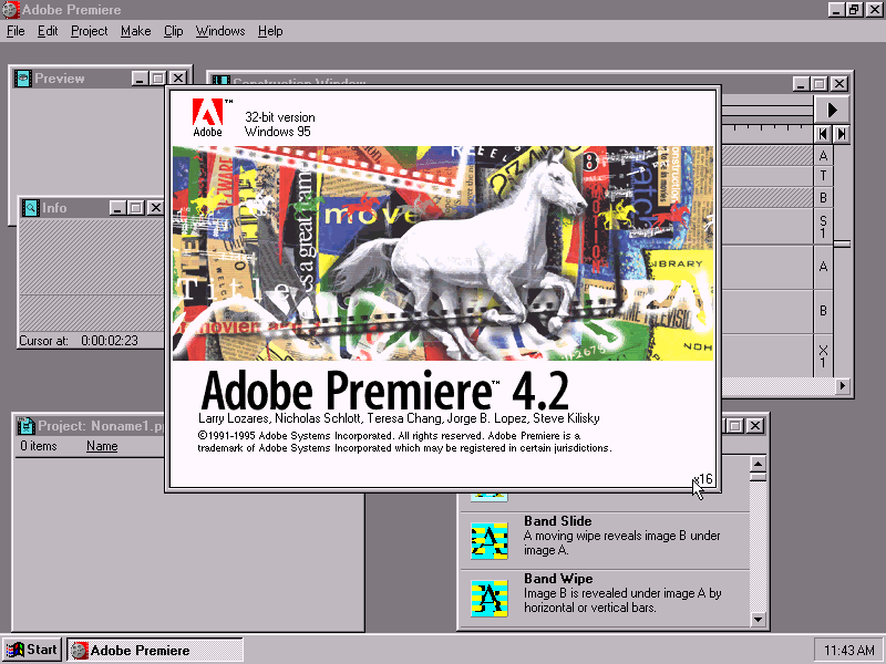 Adobe Premiere 4.2 - Splash