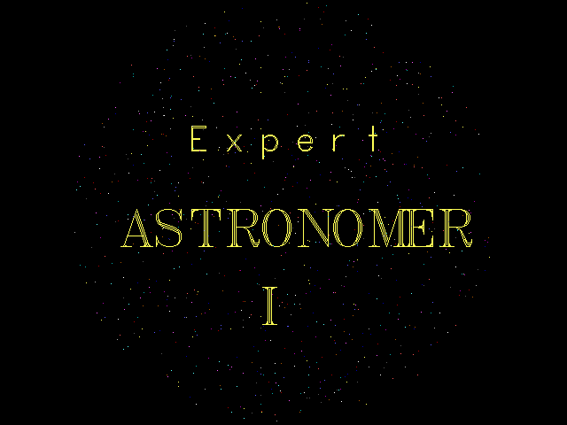 Expert Astronomer I - Splash