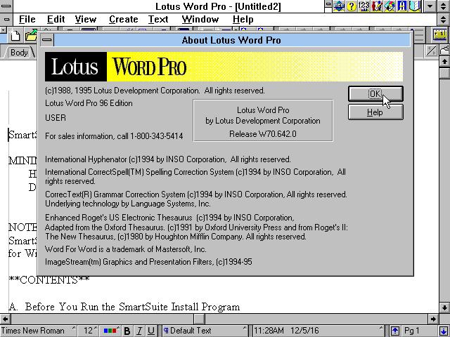Winworld Lotus Smartsuite 4 0