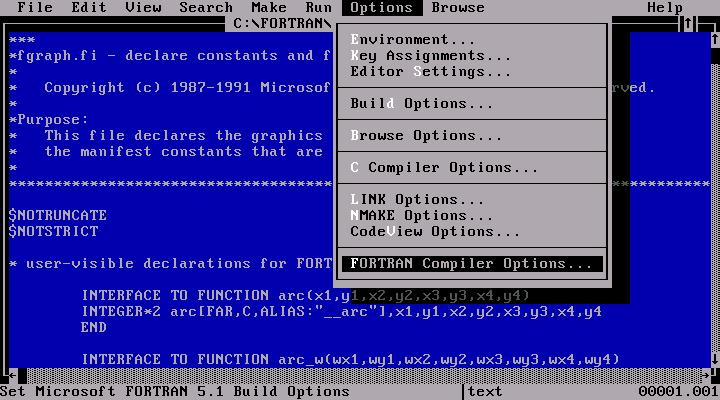 WinWorld: Microsoft FORTRAN 5 1
