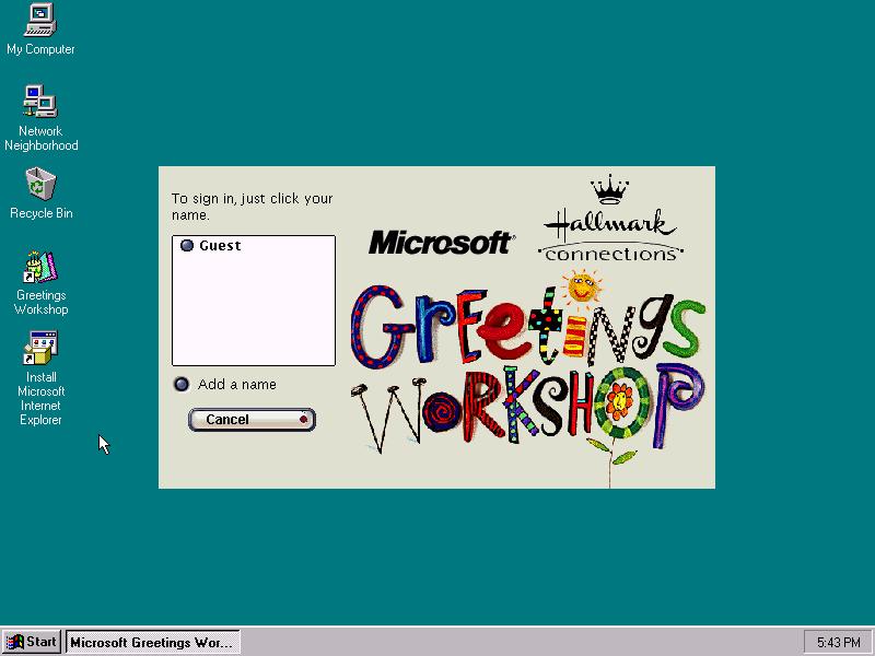 Winworld microsoft greetings workshop 20 microsoft greetings workshop 20 splash m4hsunfo