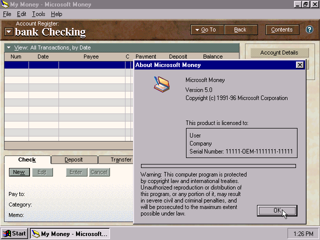 winworld microsoft money 97 5 0
