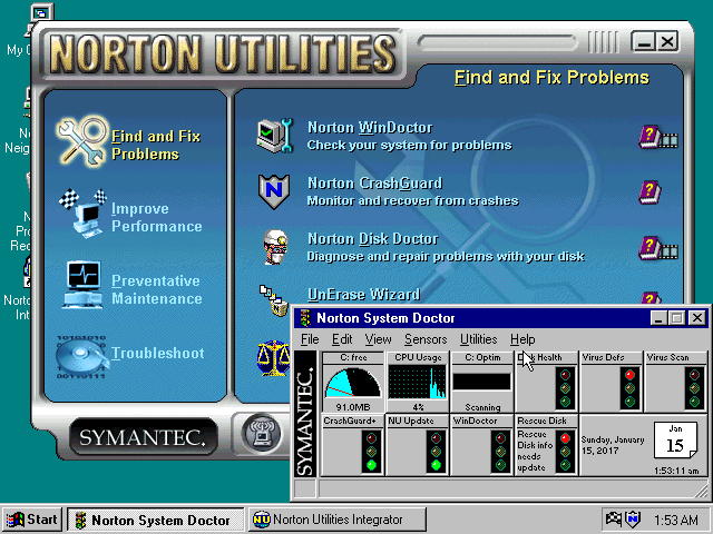 Norton Utilities 3.0 for Windows - Integrator