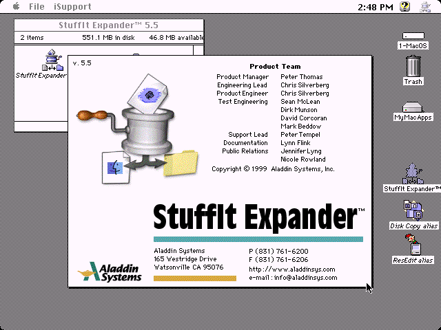 WinWorld: Stuffit Expander 5 5