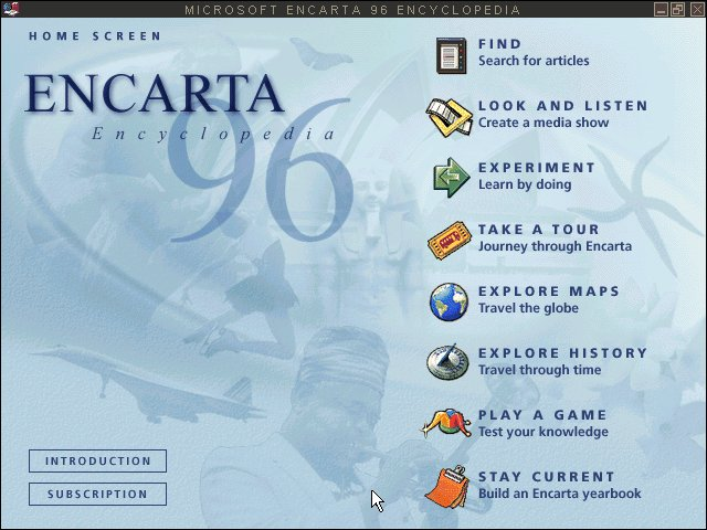 WinWorld: Encarta 1996