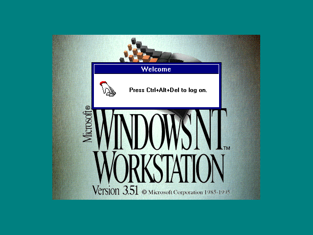 Microsoft Windows NT 3.51 - Splash