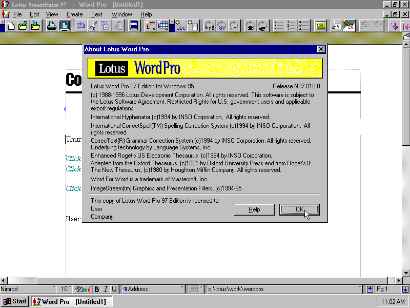 winworld screenshots for lotus word pro 97 winworld screenshots for lotus word pro 97