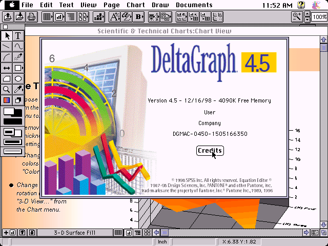 DeltaGraph 4.5 for Mac - About