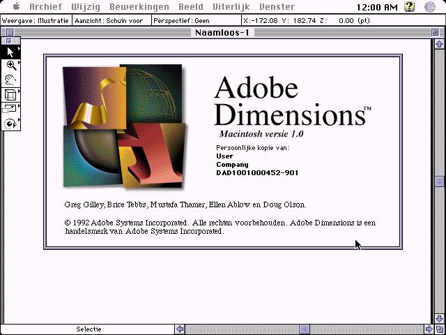 WinWorld: Adobe Dimensions 1 0