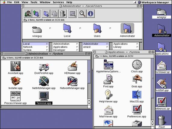 WinWorld: Mac OS X Server 1 0