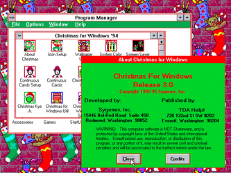 Xmas for Windows v3.0 - Splash