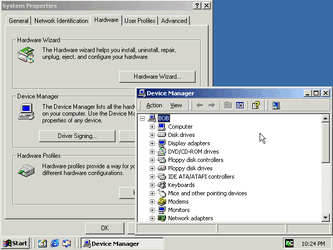 Device Manager in Windows 2000